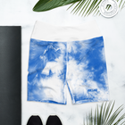 S2G Blue Tie Dye High Waist Yoga Shorts