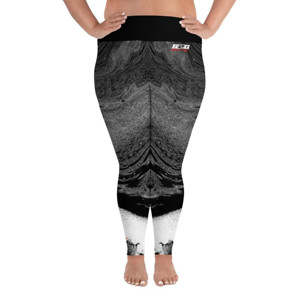 S2G Curvy Signature Series Collection Leggings Tie Dye Black2