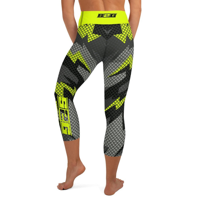 S2G Day Glow Tactical Yoga Capri Leggings