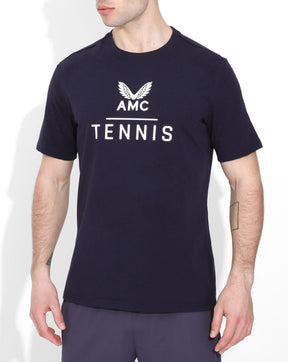 Navy AMC Tennis Cotton Tee