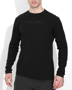 Black / Black Elite Performance Long Sleeve Tee