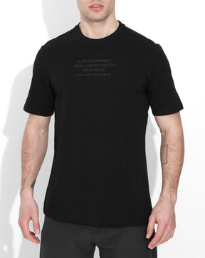 Black/Black Co-Ordinates Cotton Tee