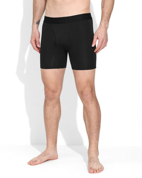 Black Long Length Boxers - Pack Of 3
