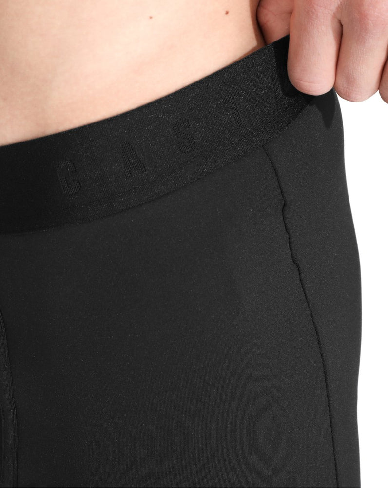 Black Medium Length Boxers - Pack Of 3
