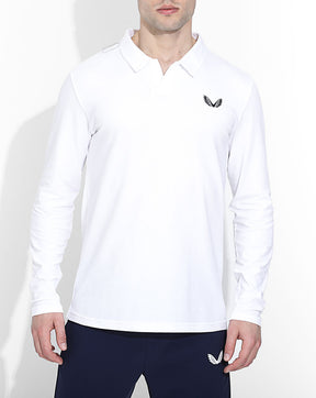 White Astoria Long Sleeve Polo