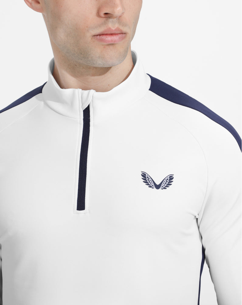 White Performance Golf 1/4 Zip Jacket