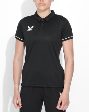 Black AMC Core Women's Training Polo