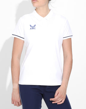 White AMC Core Women's Training Polo