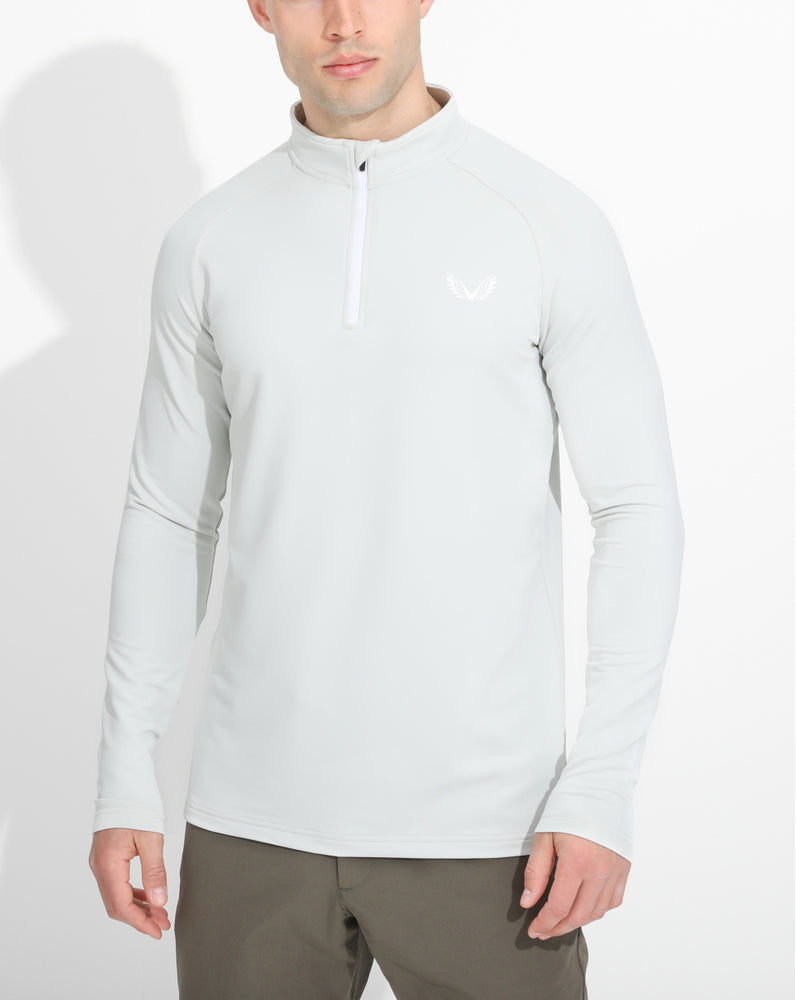 Light Grey Pro Tek Performance 1/4 Zip