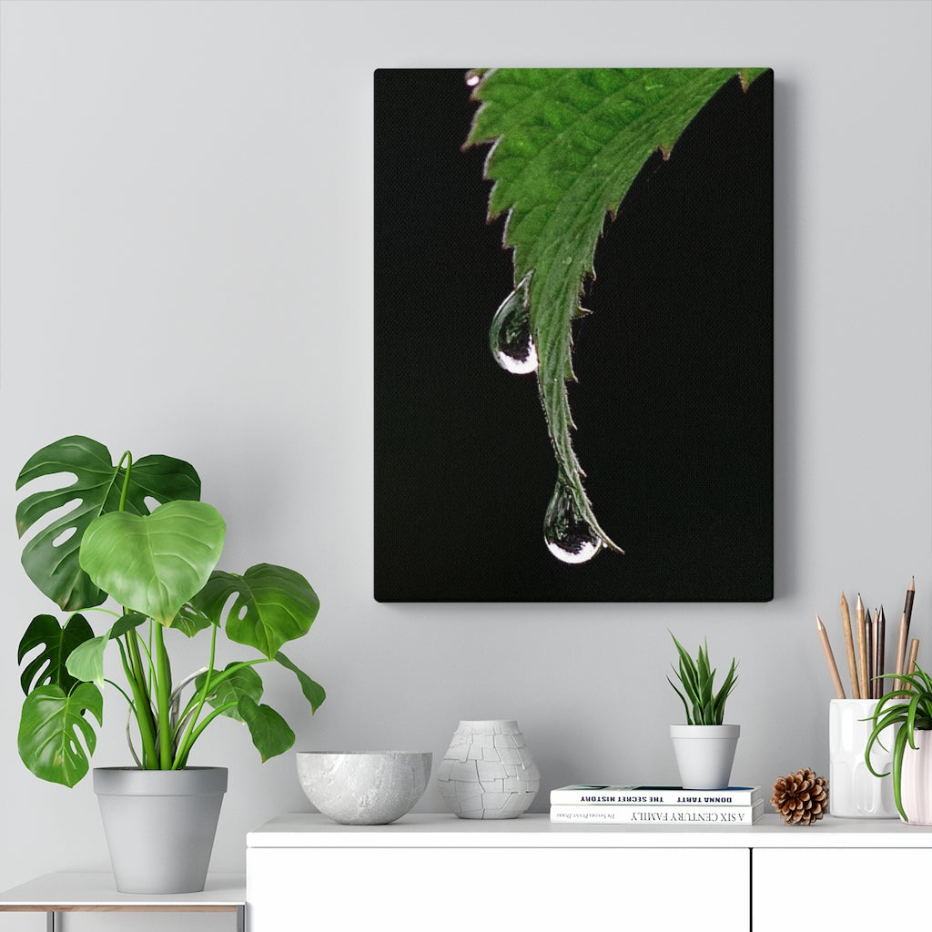 Leaf Print on Canvas - www.thedesigntank.com