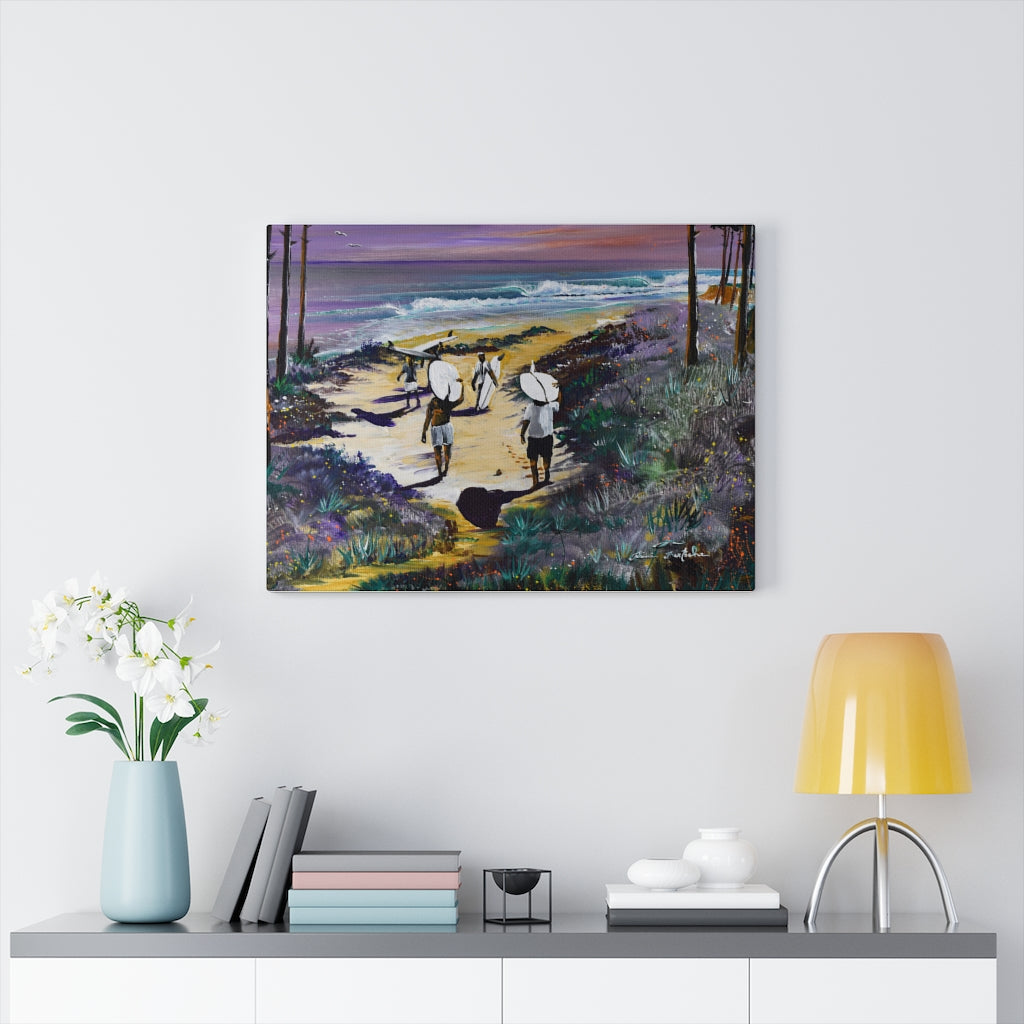 Surf Print on Canvas by Remi Bertoche - Design Tank