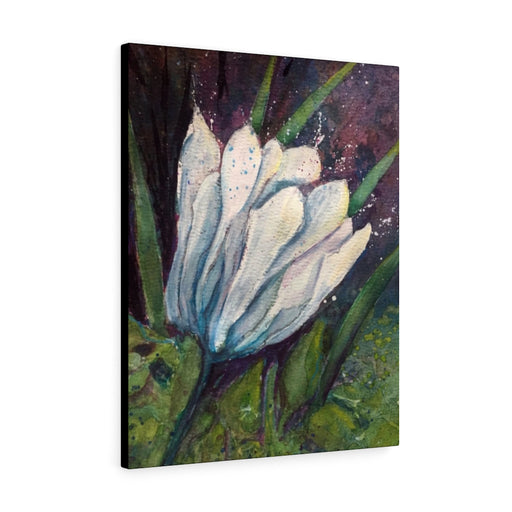 White Flower Print on Canvas - Design Tank
