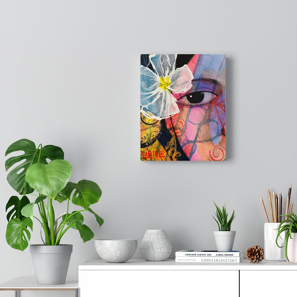 Flower in her Hair Print on Canvas - www.thedesigntank.com