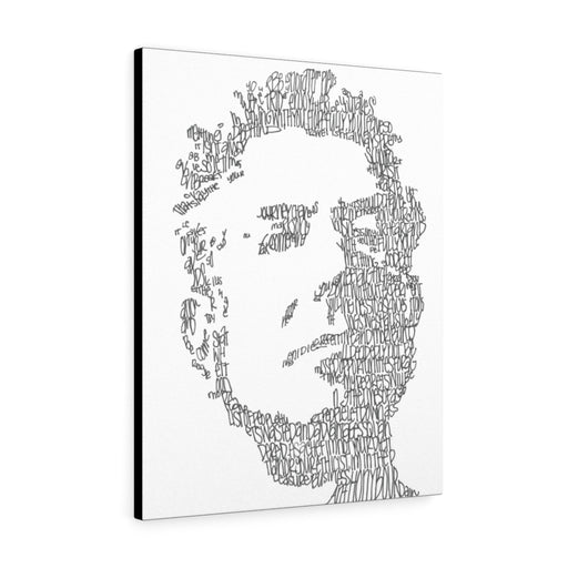Anthony Bourdain Print on Canvas by Amanda Lea Pulis - www.thedesigntank.com