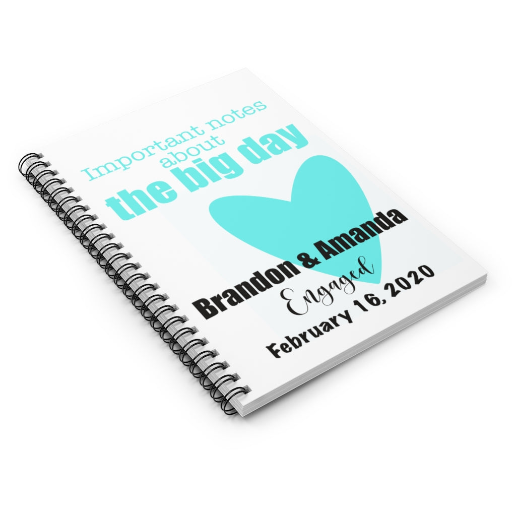 Personalized Engagement Journal - www.thedesigntank.com