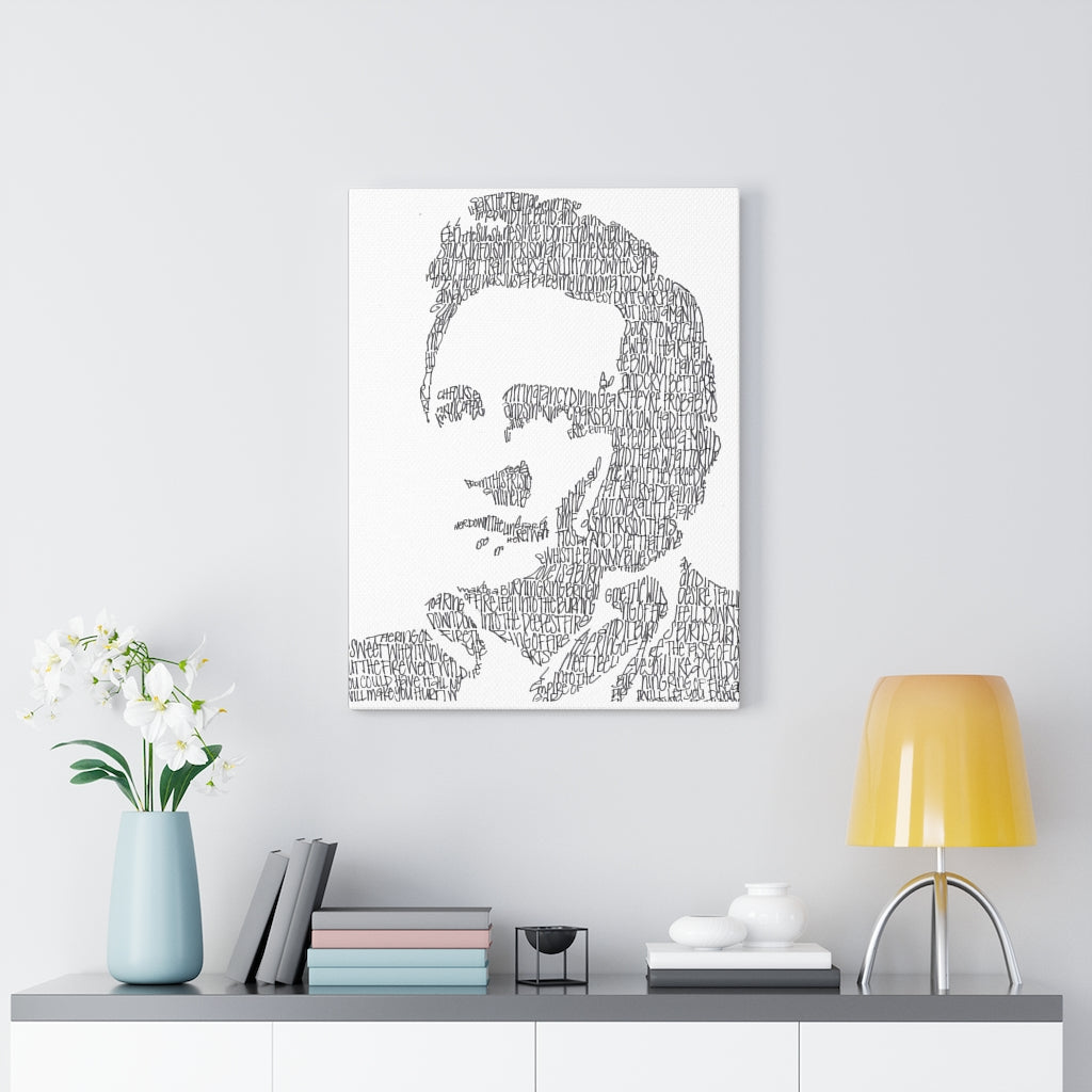 Johnny Cash Lyrical Portrait Print on Canvas by Amanda Lea Pulis - www.thedesigntank.com