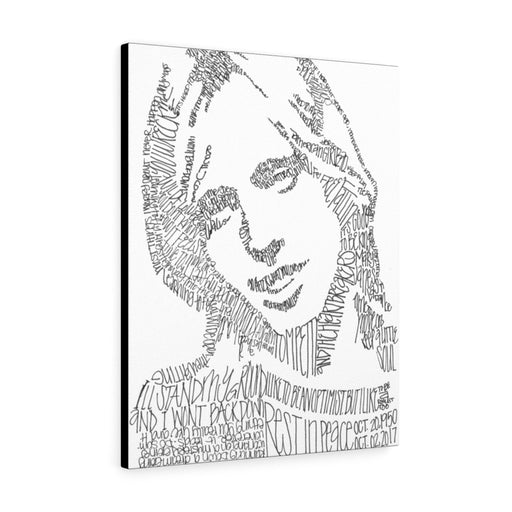 Tom Petty Lyrical Portrait Print on Canvas by Amanda Lea Pulis - www.thedesigntank.com