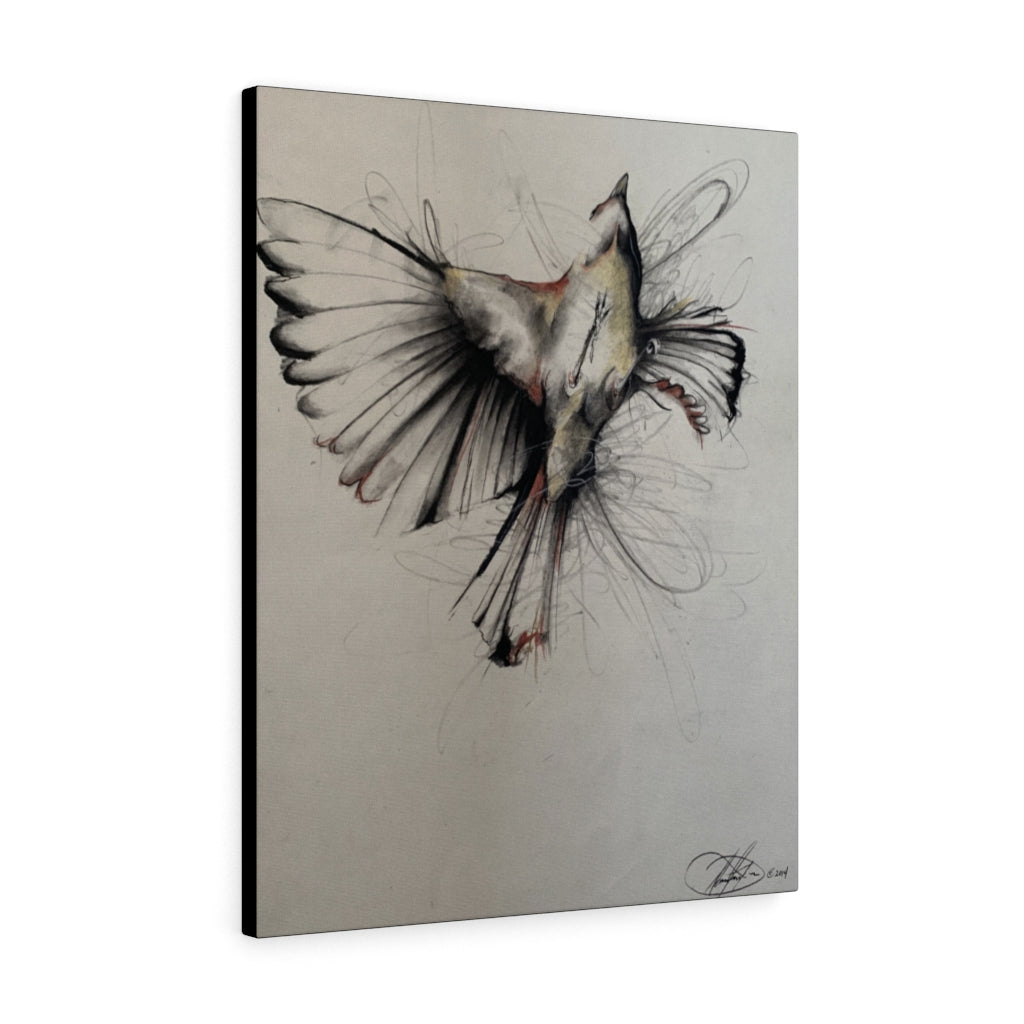 Bird in Flight Print on Canvas - Design Tank