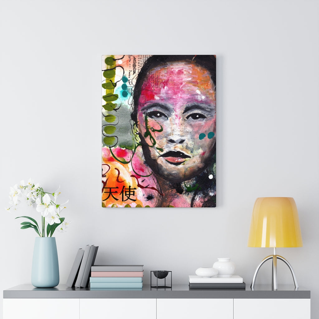 Angel Above Print on Canvas by Rachel Tibbits - www.thedesigntank.com