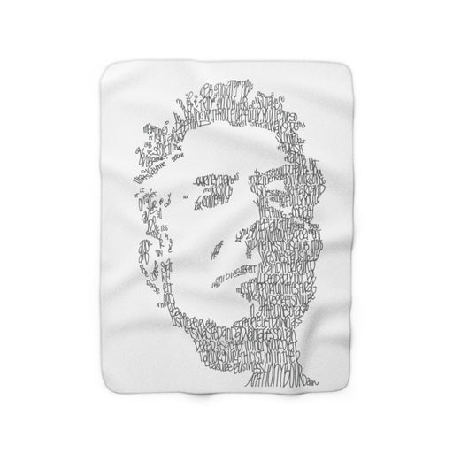 Anthony Bourdain Fleece Blanket - www.thedesigntank.com