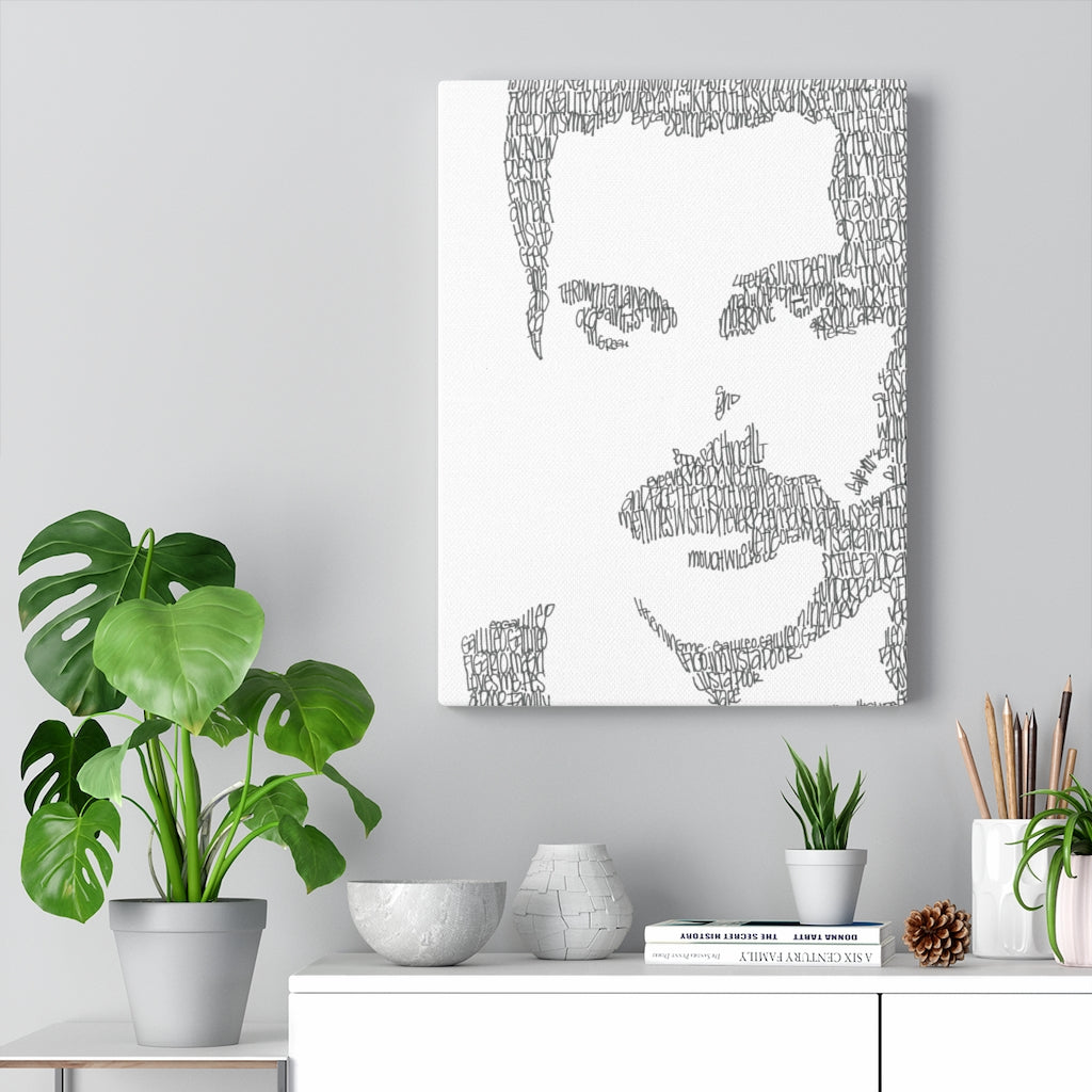 Freddie Mercury Lyrical Portrait Print on Canvas by Amanda Lea Pulis - Design Tank