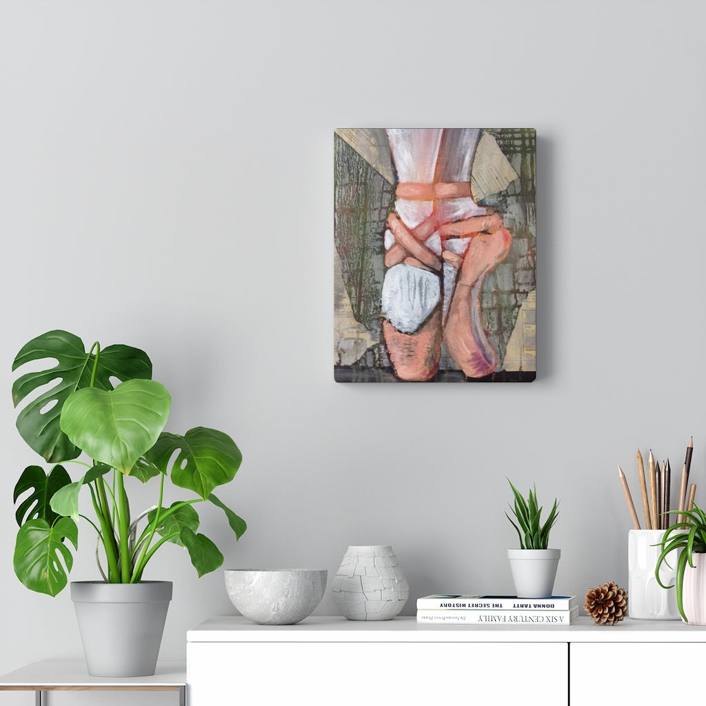 Ballet Slippers Print on Canvas - www.thedesigntank.com