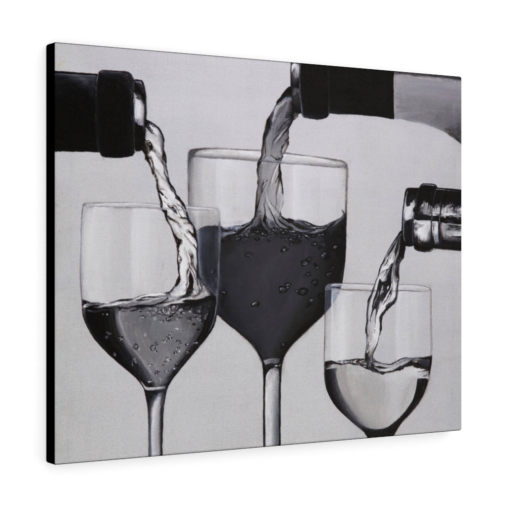Wine Glasses Print on Canvas - www.thedesigntank.com