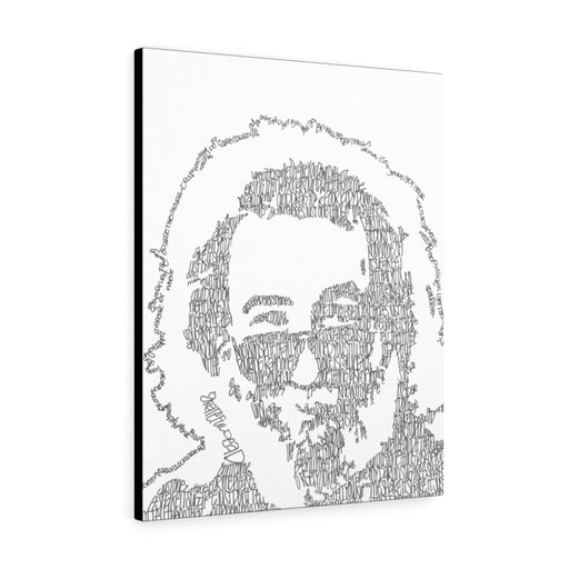 Jerry Garcia Lyrical Portrait Print on Canvas by Amanda Lea Pulis - www.thedesigntank.com