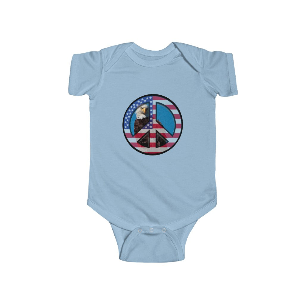 'Patriotic Peace' Infant Onesie - www.thedesigntank.com
