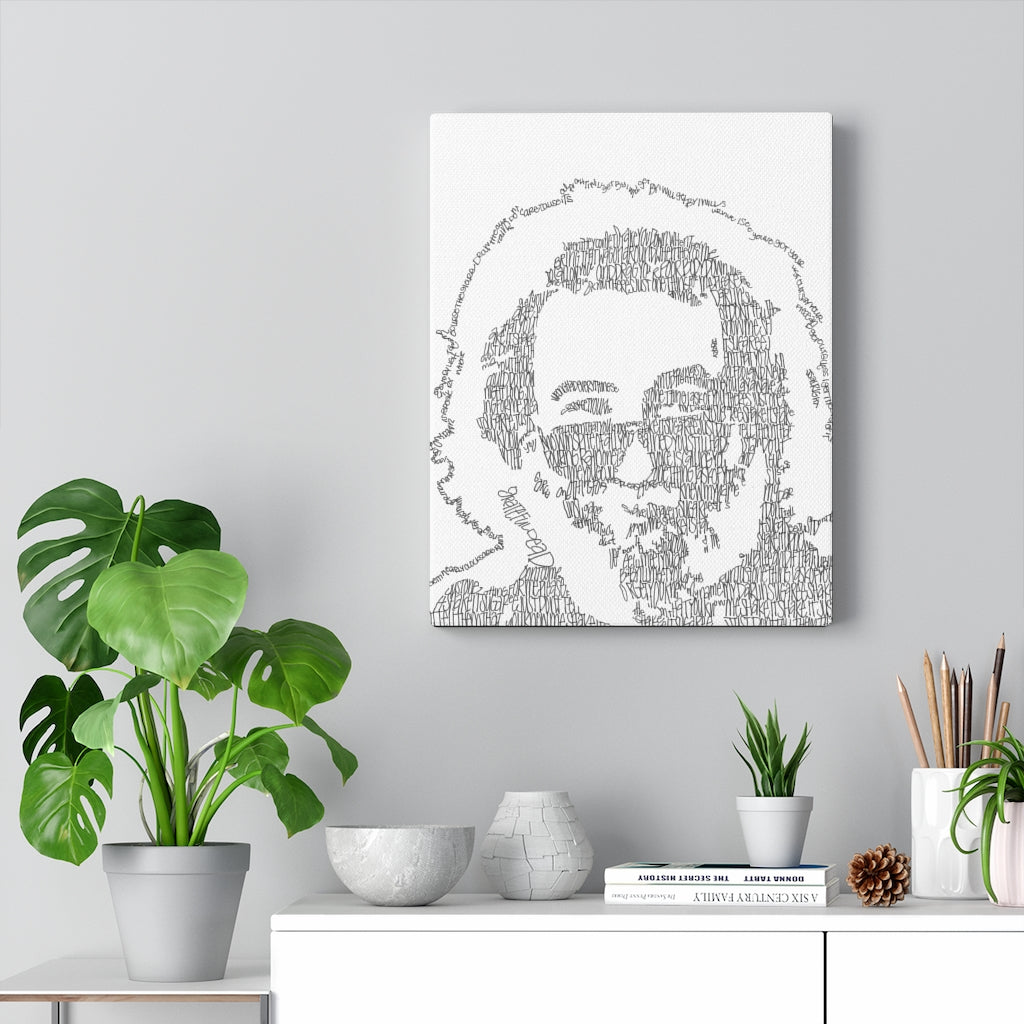 Jerry Garcia Print on Canvas - www.thedesigntank.com