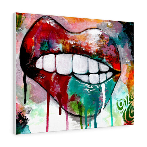 Lips Print on Canvas - www.thedesigntank.com