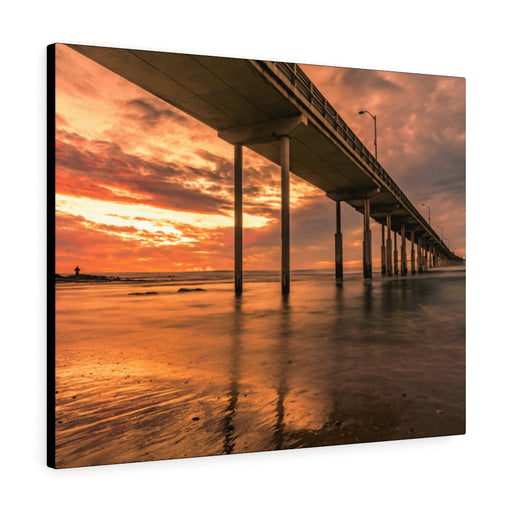 OB Pier at Sunset Print on Canvas - www.thedesigntank.com