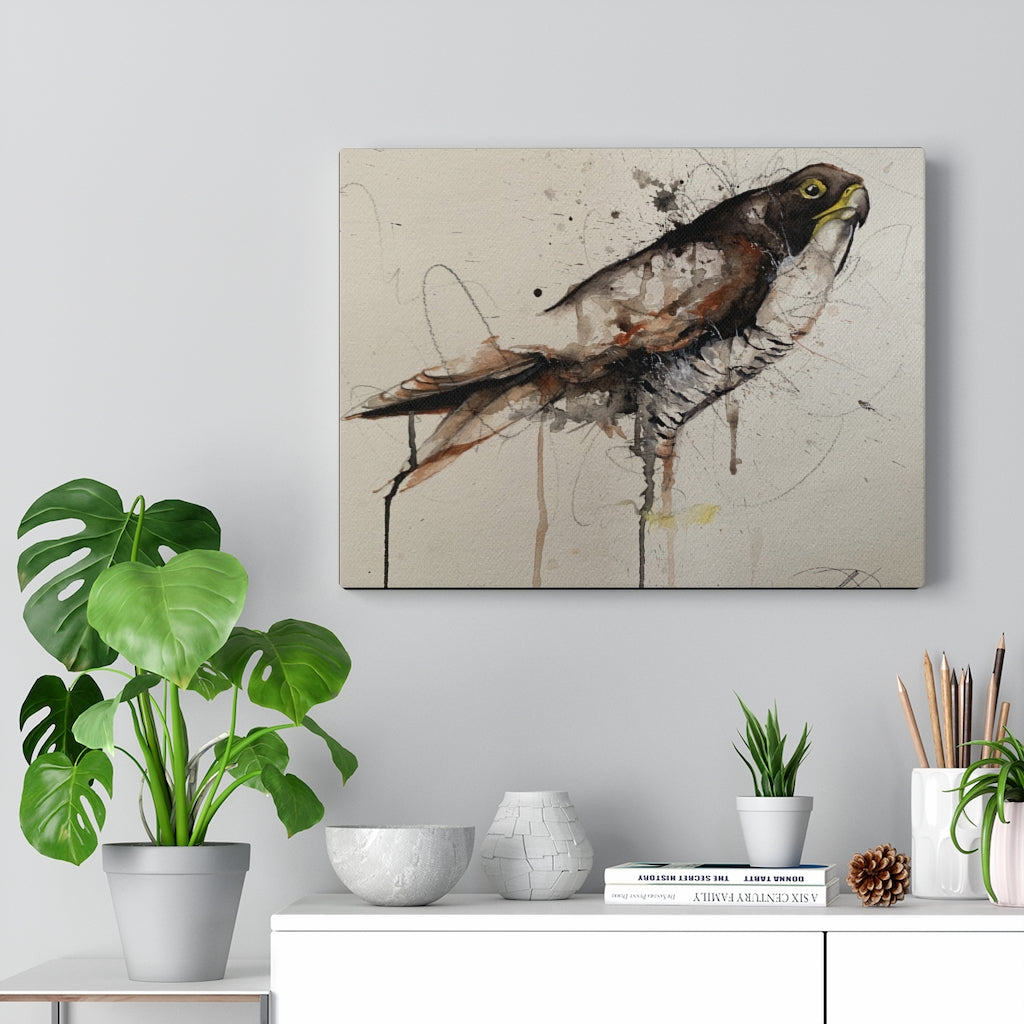 Hawk Print on Canvas - www.thedesigntank.com