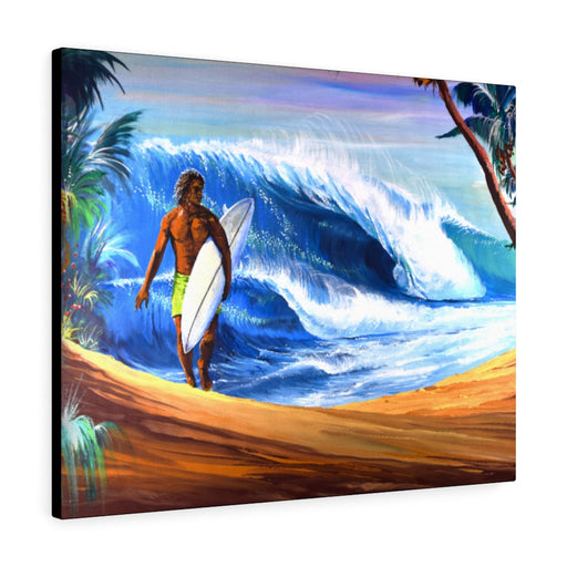 Surf Print on Canvas by Remi Bertoche - www.thedesigntank.com