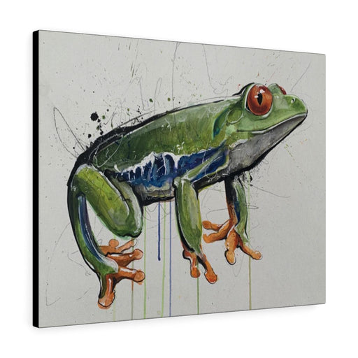 Frog Print on Canvas - Design Tank