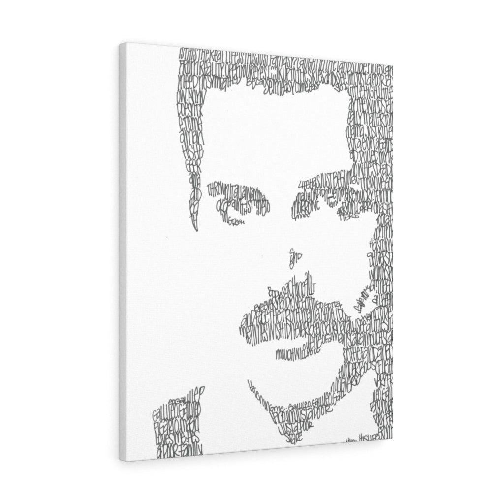 Freddie Mercury Lyrical Portrait Print on Canvas by Amanda Lea Pulis - www.thedesigntank.com