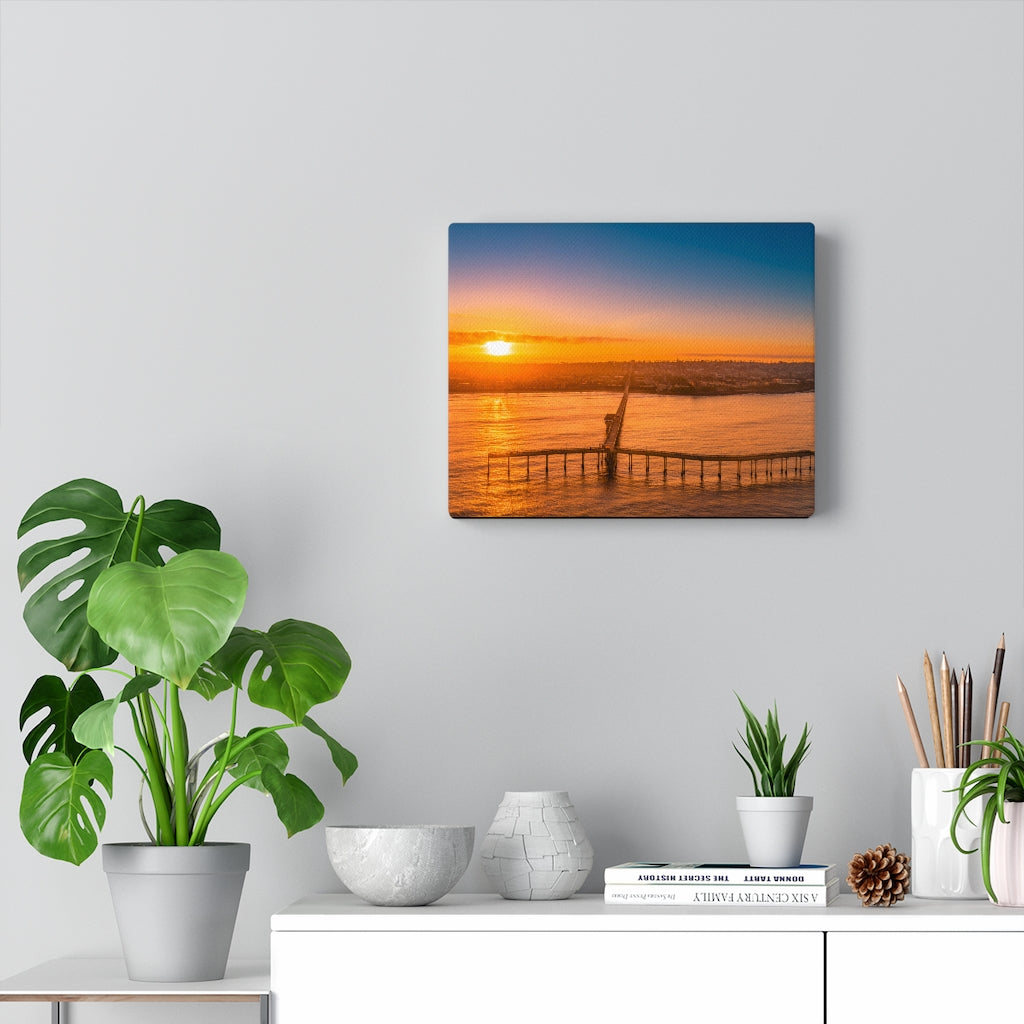 OB Pier Print on Canvas - www.thedesigntank.com