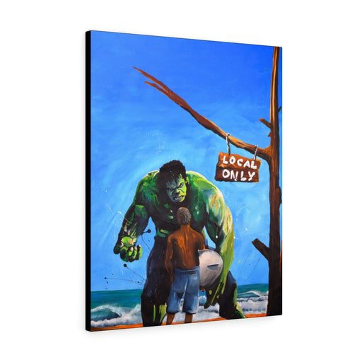 Hulk Surf Print on Canvas by Remi Bertoche - Design Tank