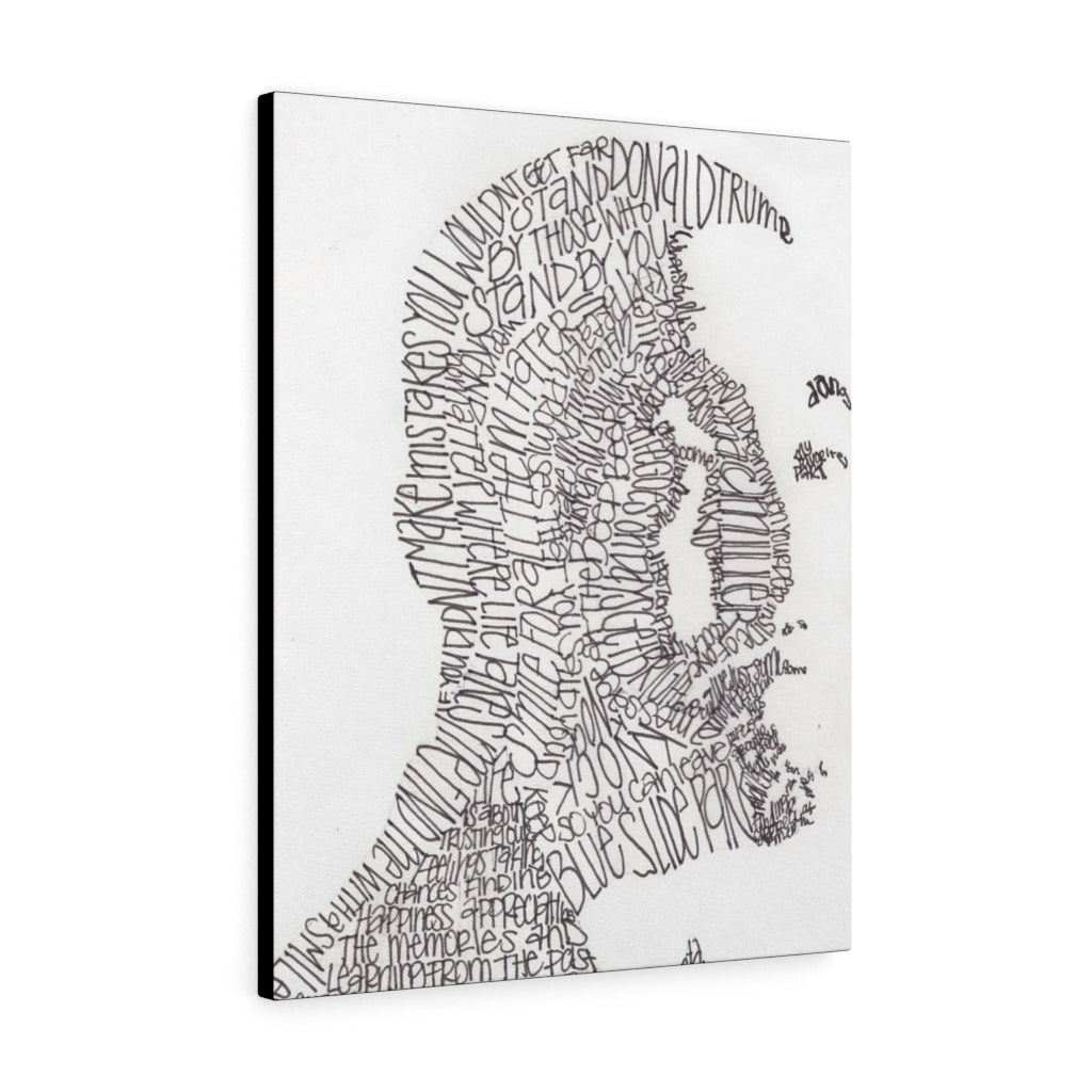 Mac Miller Lyrical Portrait Print on Canvas by Amanda Lea Pulis - Design Tank