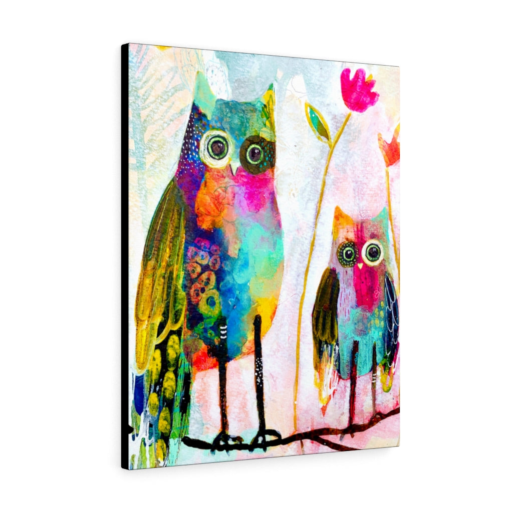 Wonky Owl Print by Tracy Verdugo on Canvas - www.thedesigntank.com