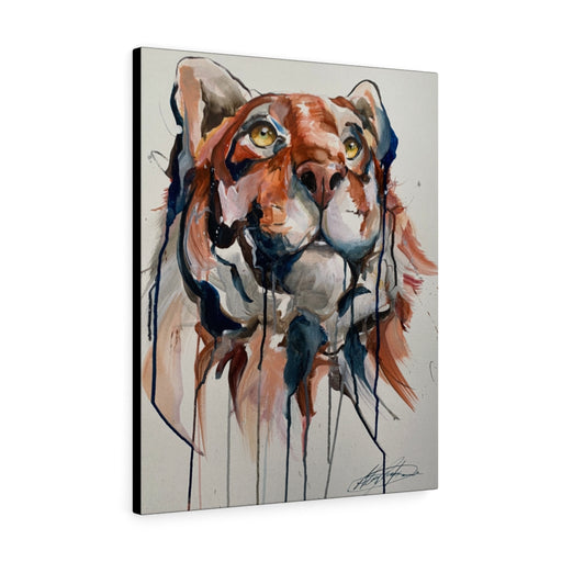 Tiger Print on Canvas - Design Tank