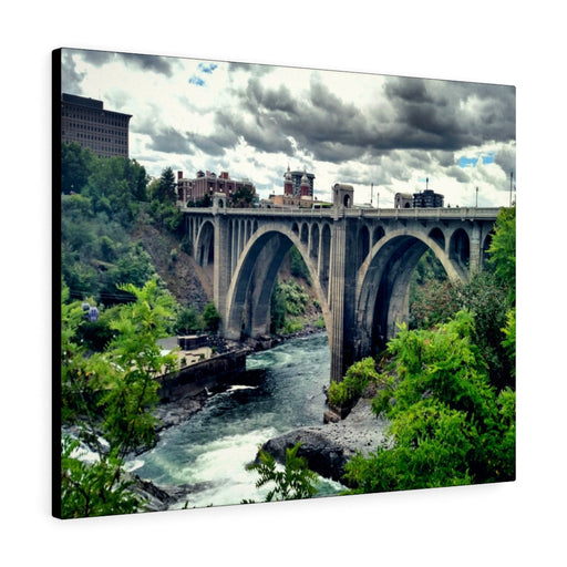 Monroe Street Bridge Print on Canvas - www.thedesigntank.com