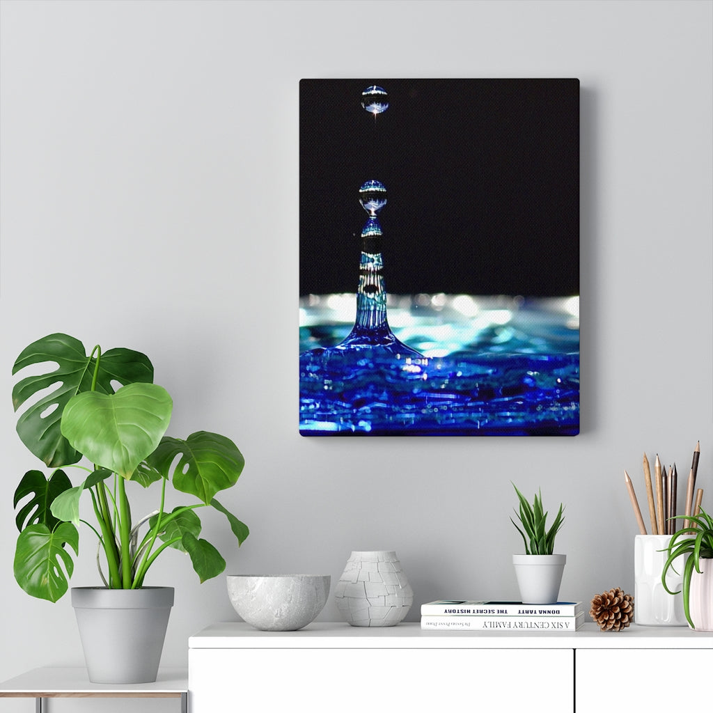 Water Droplet Print on Canvas - www.thedesigntank.com