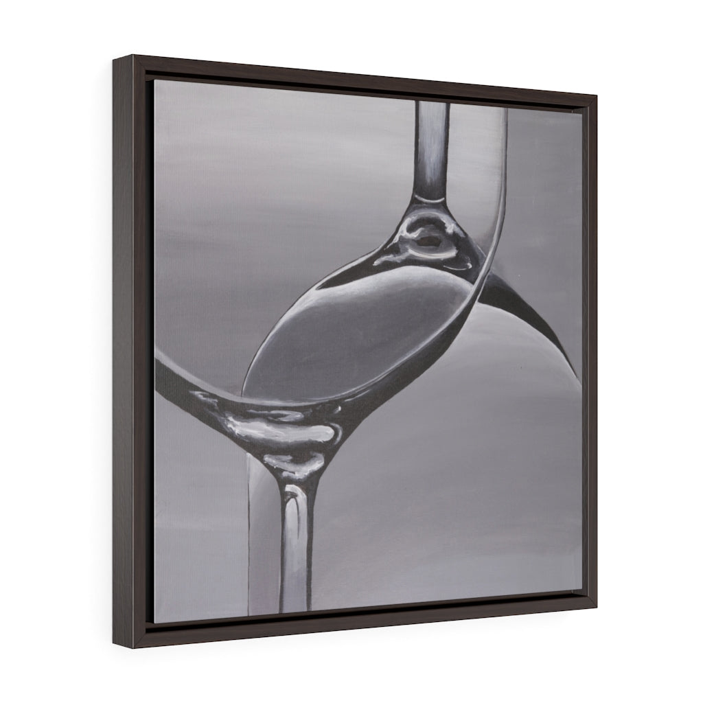 Wine Glass Framed Print on Canvas - www.thedesigntank.com