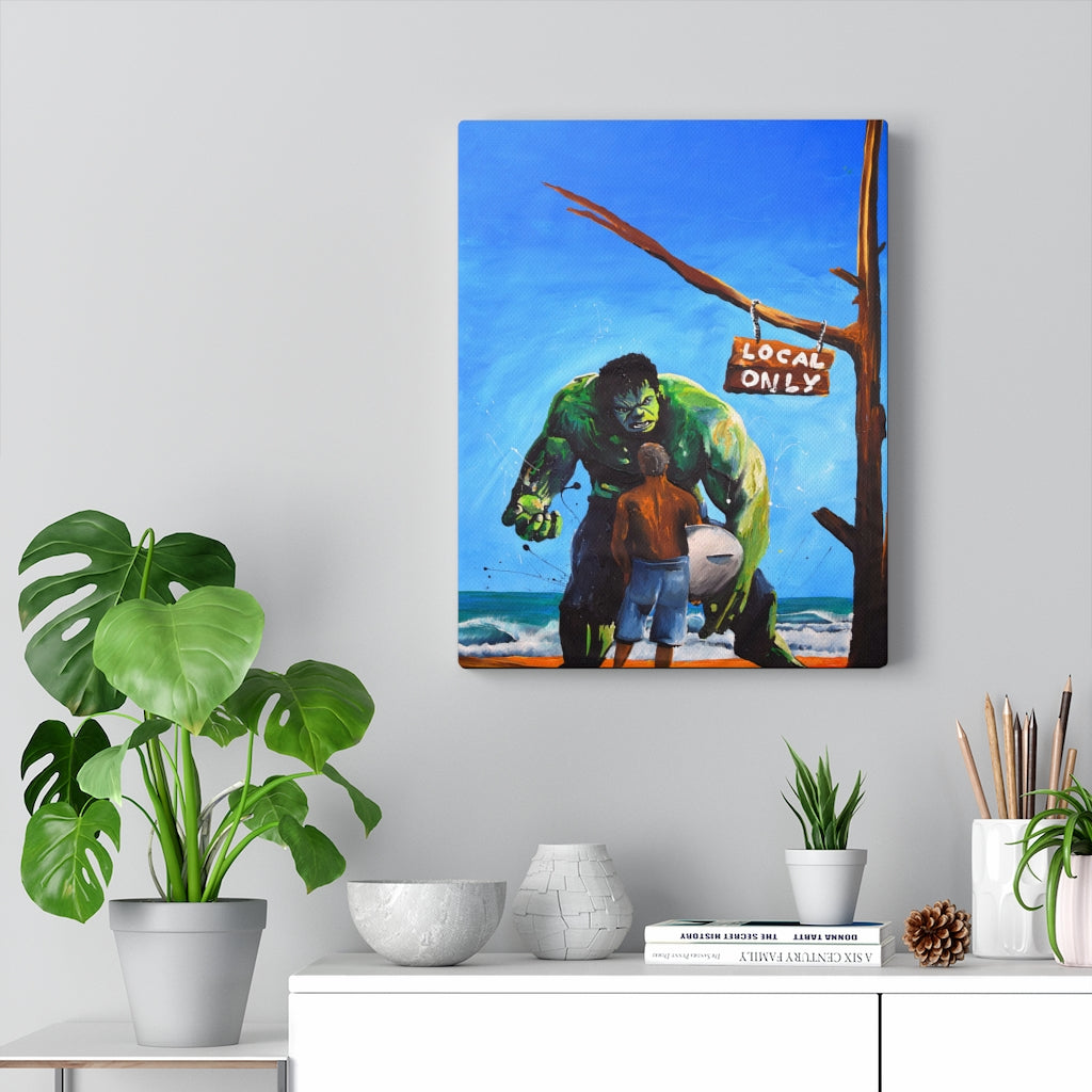 Hulk Surf Print on Canvas by Remi Bertoche - www.thedesigntank.com