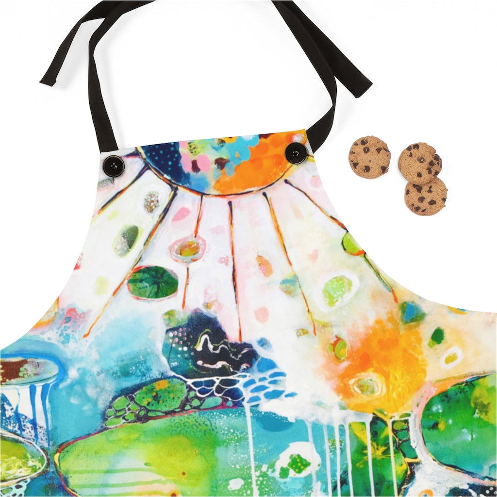 Home by the Sea Artist Apron by Tracy Verdugo - www.thedesigntank.com