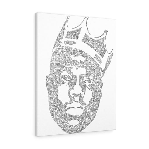 Biggie Smalls Lyrical Portrait Print on Canvas by Amanda Lea Pulis - www.thedesigntank.com
