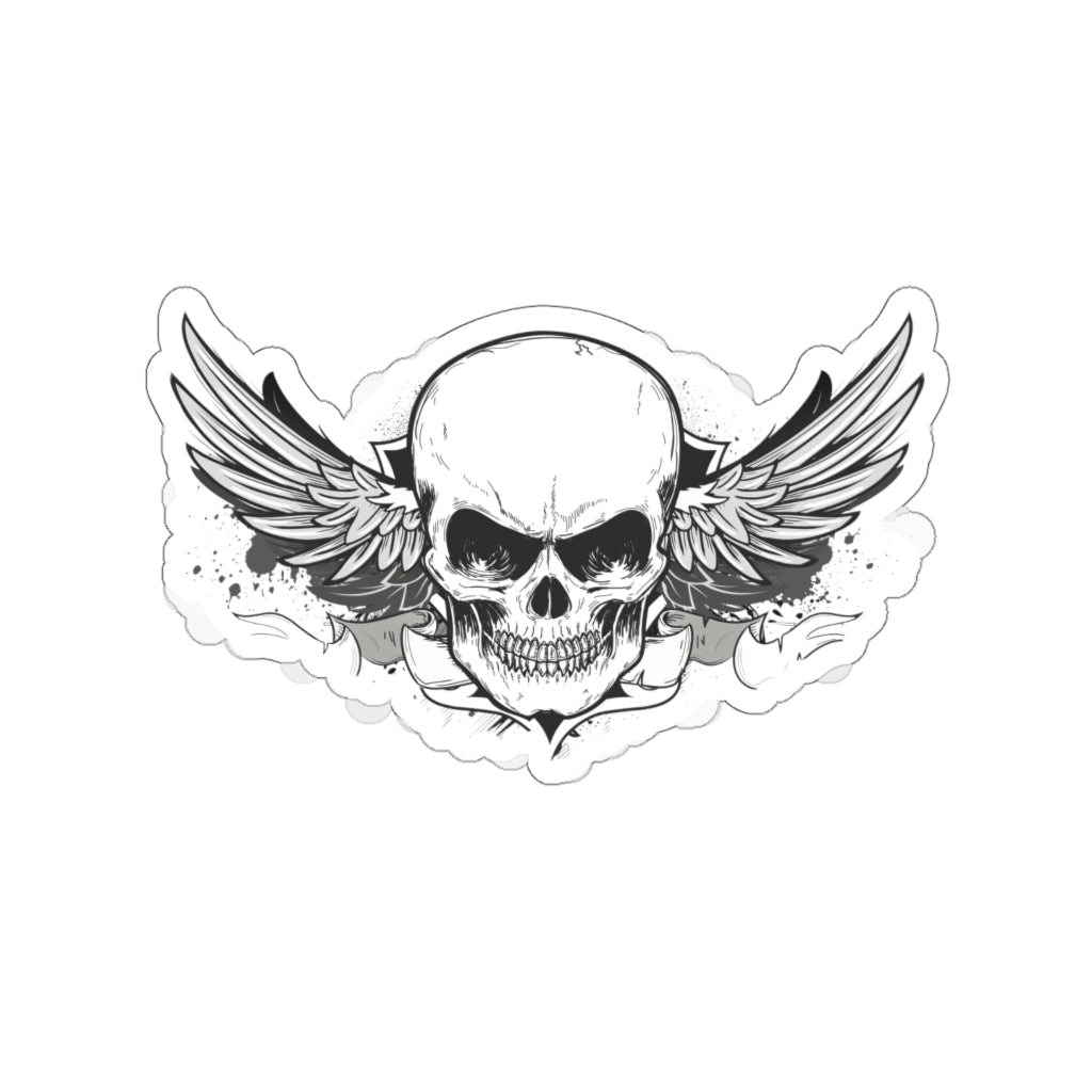 Grunge Skull Stickers - www.thedesigntank.com
