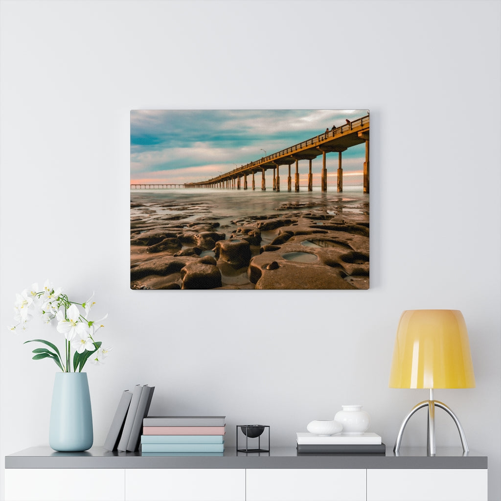 Ocean Beach Pier Print on Canvas - www.thedesigntank.com