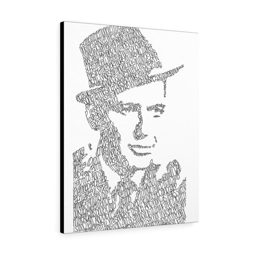 Frank Sinatra Lyrical Portrait Print on Canvas by Amanda Lea Pulis - Design Tank